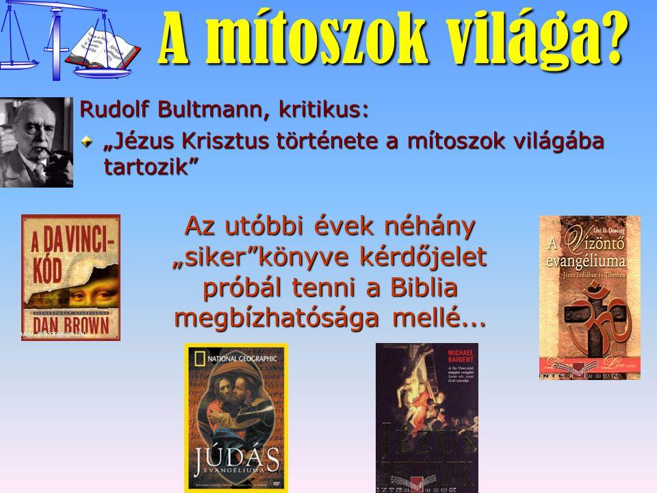 """A mítoszok világa Rudolf Bultmann, kritikus: """"Jézus Krisztus története a mítoszok világába tartozik"""