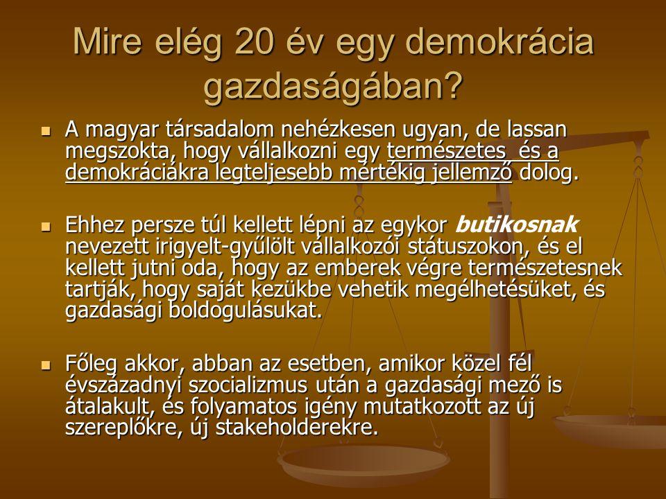 Mire elég 20 év egy demokrácia gazdaságában