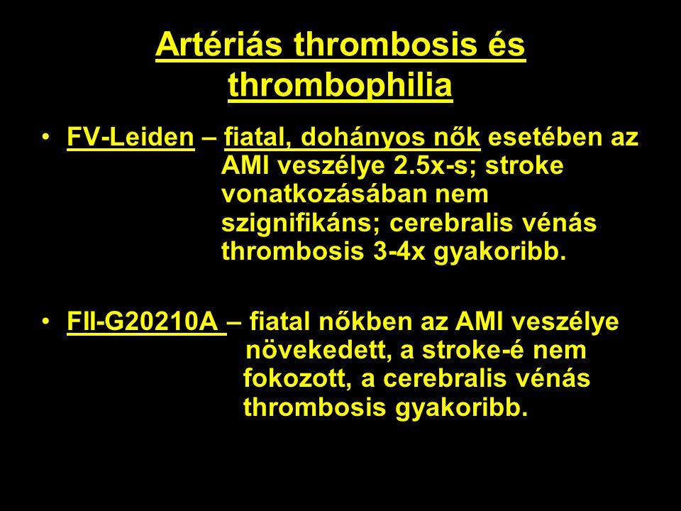 Artériás thrombosis és thrombophilia