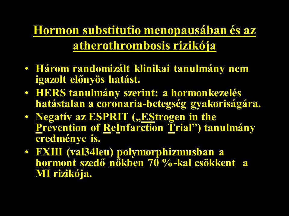Hormon substitutio menopausában és az atherothrombosis rizikója