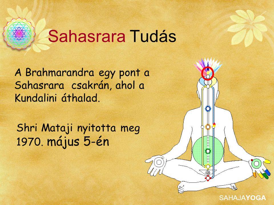 Sahasrara Tudás A Brahmarandra egy pont a Sahasrara csakrán, ahol a Kundalini áthalad.