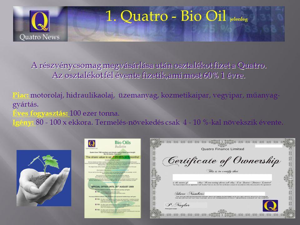 1. Quatro - Bio Oil jelenleg