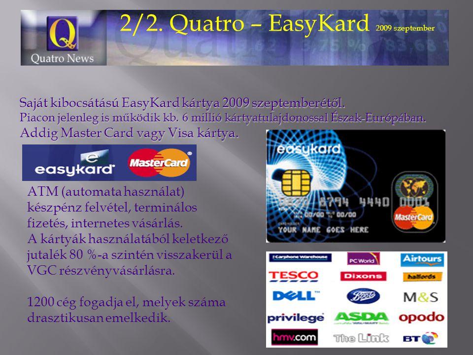 2/2. Quatro – EasyKard 2009 szeptember