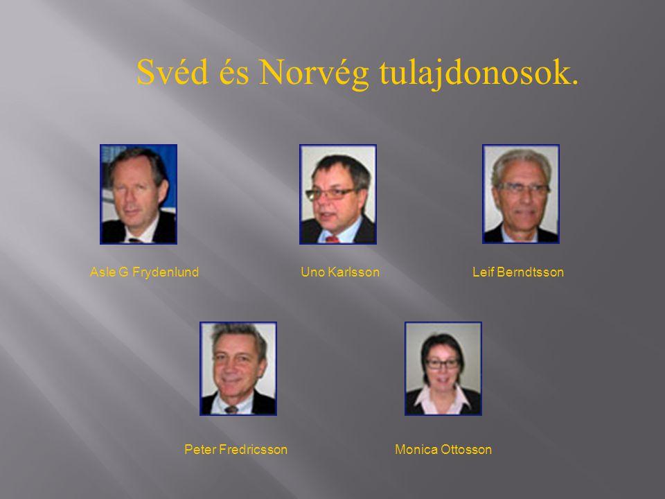 Svéd és Norvég tulajdonosok.