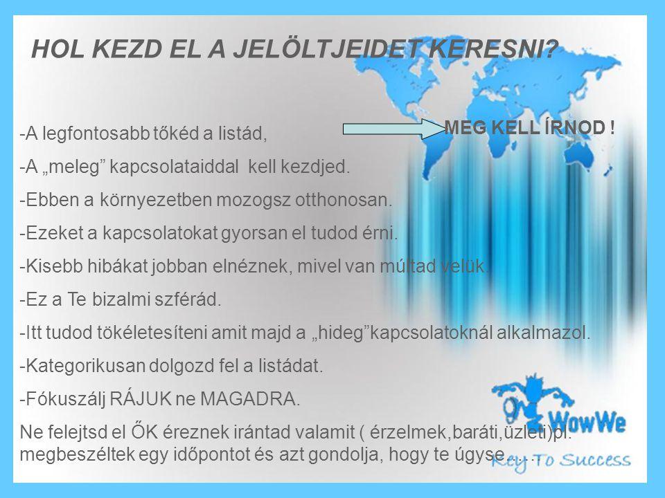 HOL KEZD EL A JELÖLTJEIDET KERESNI