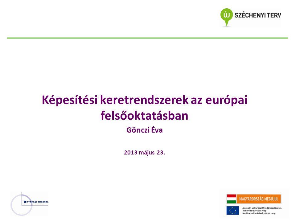 Képesítési keretrendszerek az európai felsőoktatásban