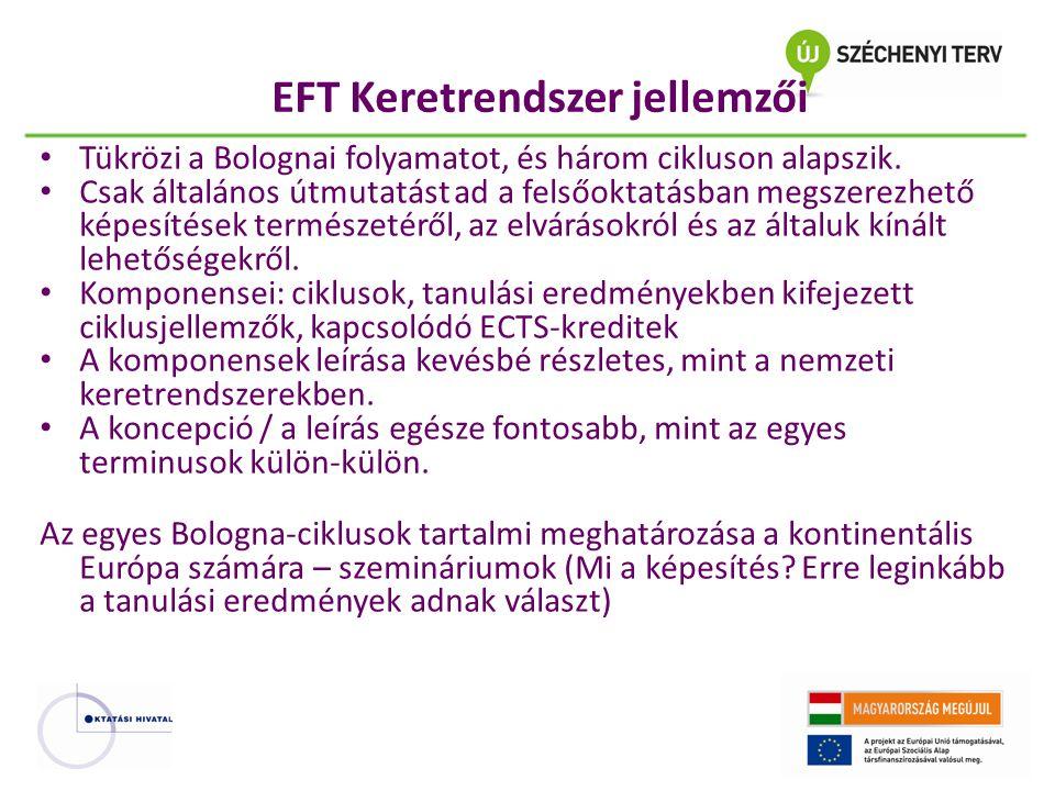 EFT Keretrendszer jellemzői