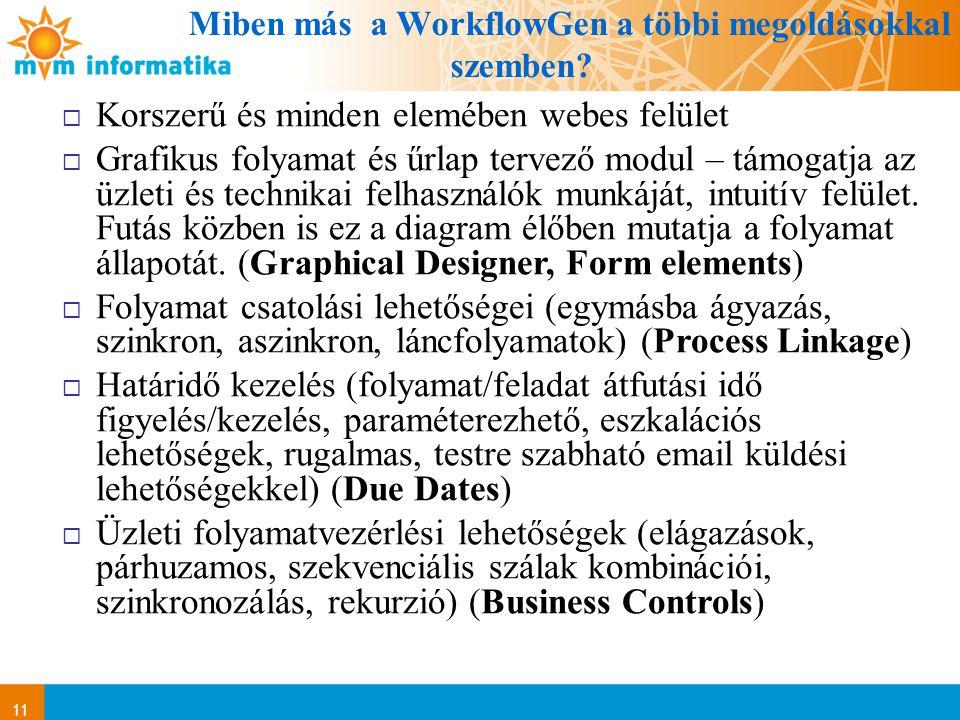 Miben más a WorkflowGen a többi megoldásokkal szemben