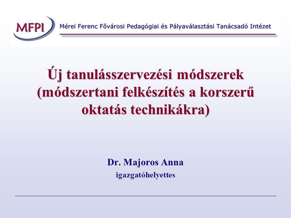 Dr. Majoros Anna igazgatóhelyettes