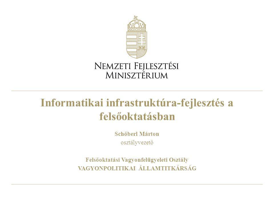 Informatikai infrastruktúra-fejlesztés a felsőoktatásban