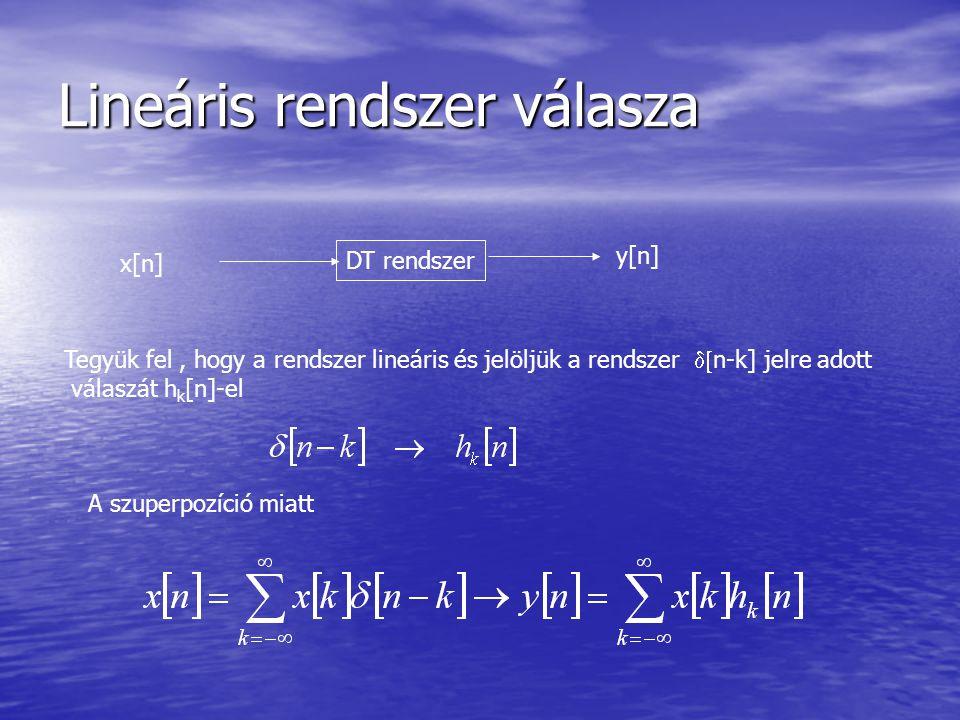 Lineáris rendszer válasza