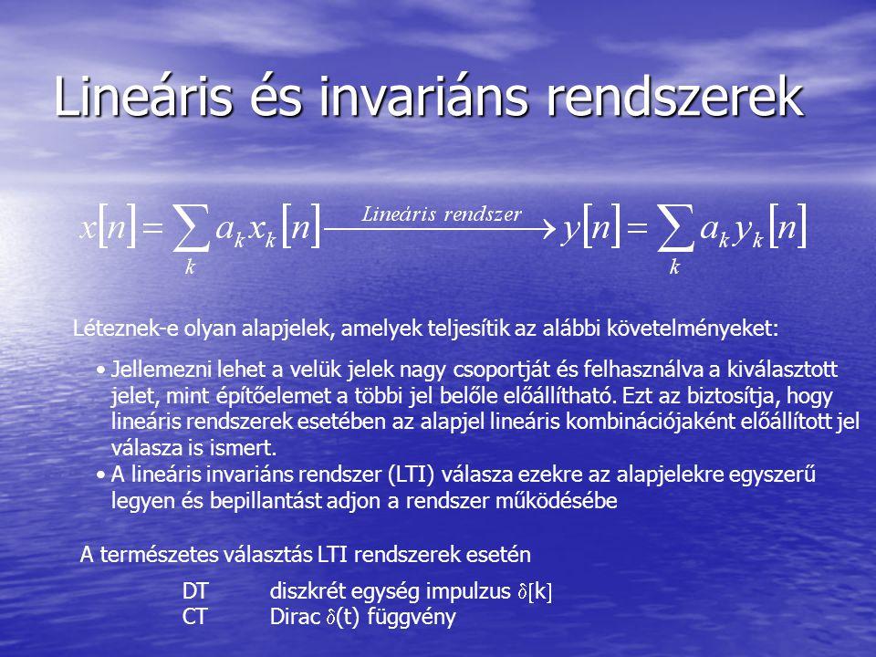 Lineáris és invariáns rendszerek