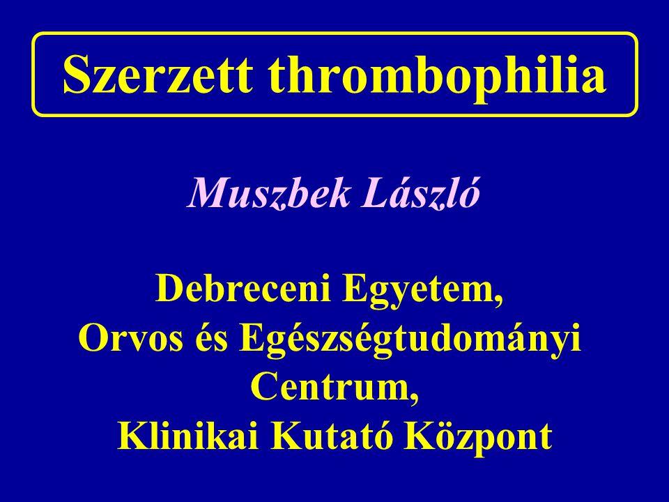 Szerzett thrombophilia
