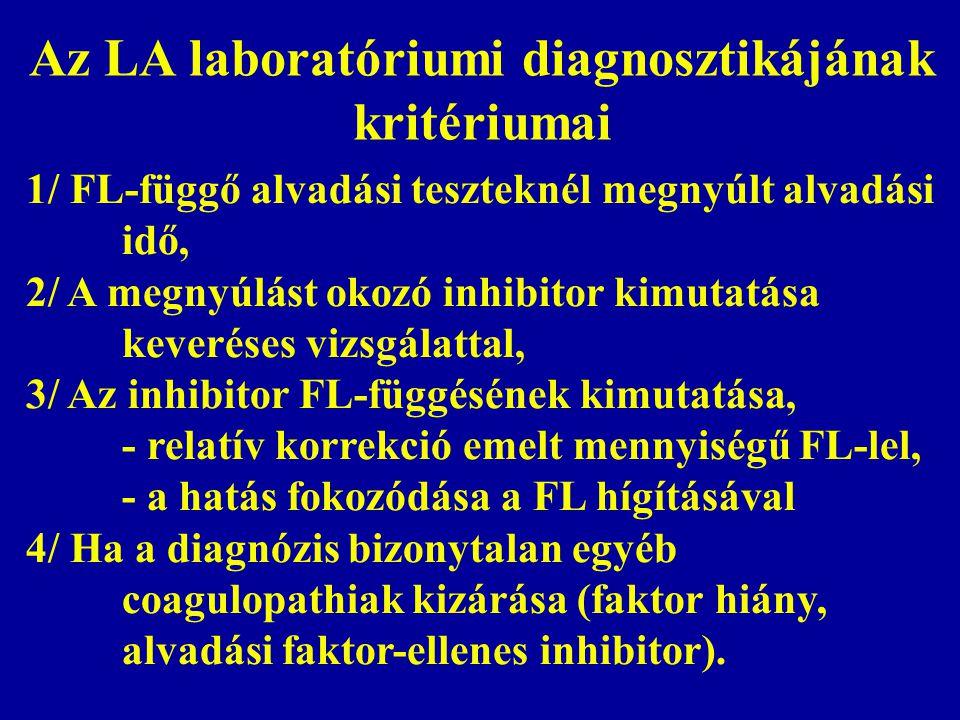 Az LA laboratóriumi diagnosztikájának