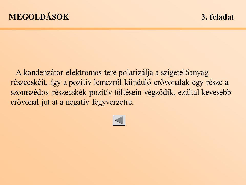 MEGOLDÁSOK 3. feladat.
