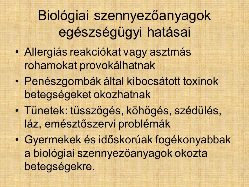 Biológiai szennyezőanyagok egészségügyi hatásai