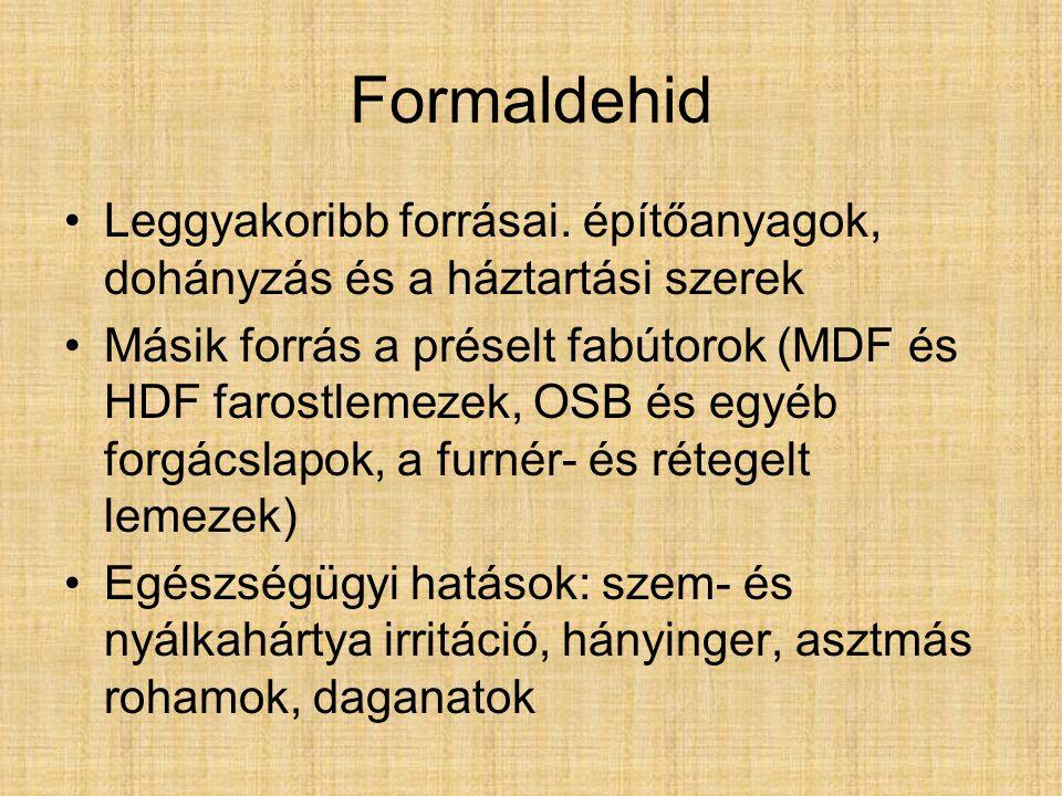 Formaldehid Leggyakoribb forrásai. építőanyagok, dohányzás és a háztartási szerek.