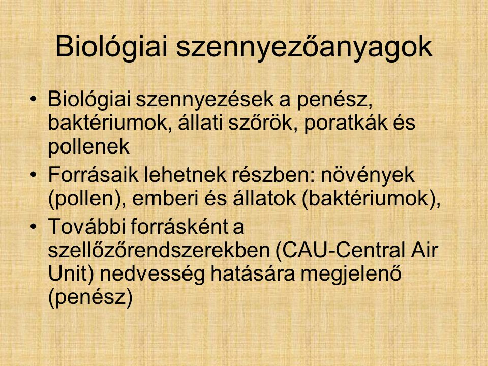 Biológiai szennyezőanyagok