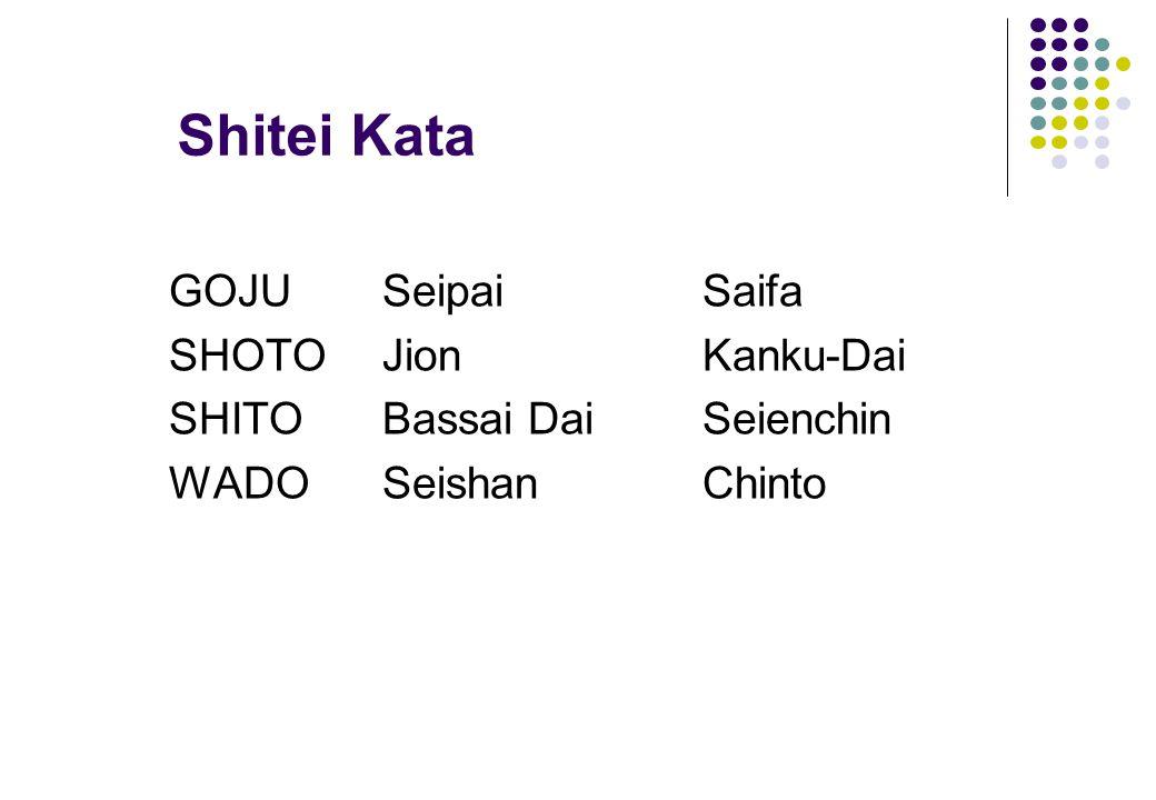 Shitei Kata GOJU Seipai Saifa SHOTO Jion Kanku-Dai