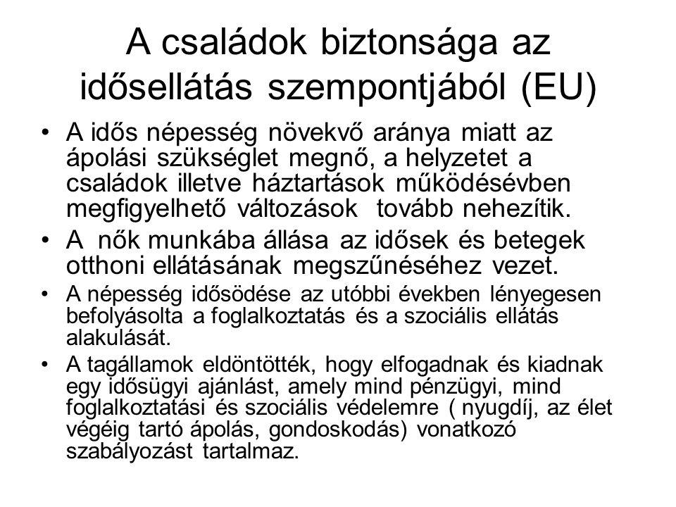 A családok biztonsága az idősellátás szempontjából (EU)