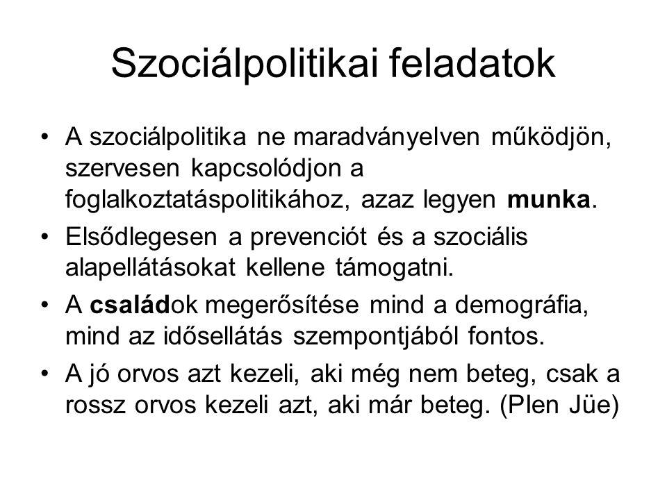 Szociálpolitikai feladatok