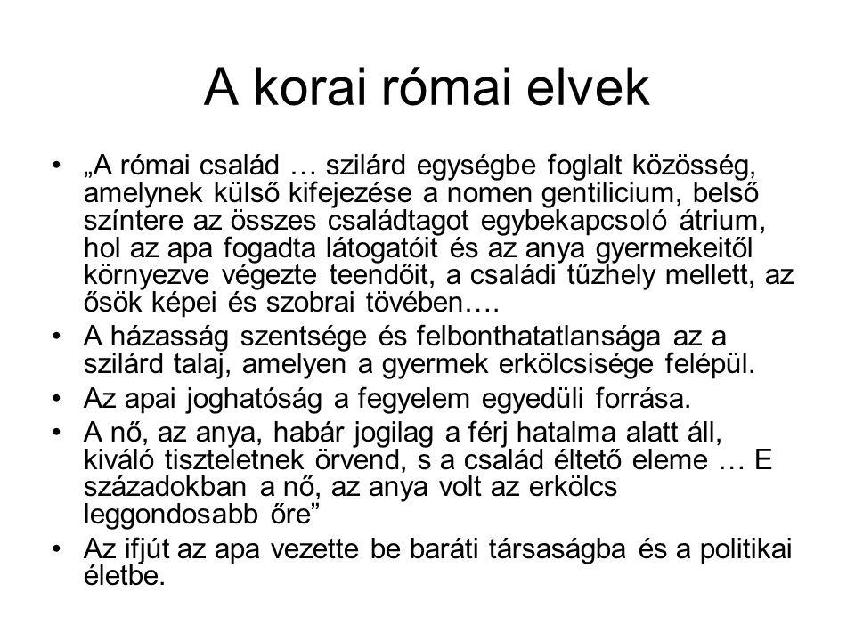 A korai római elvek