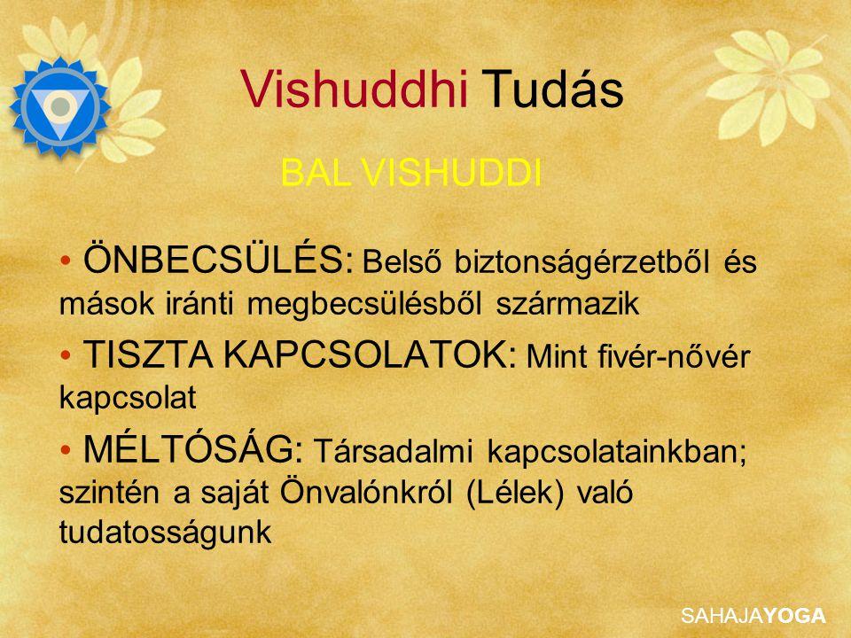 Vishuddhi Tudás BAL VISHUDDI