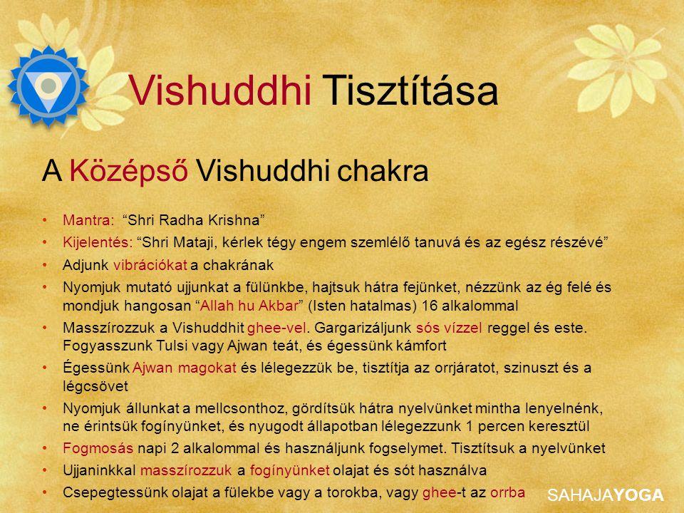 Vishuddhi Tisztítása A Középső Vishuddhi chakra