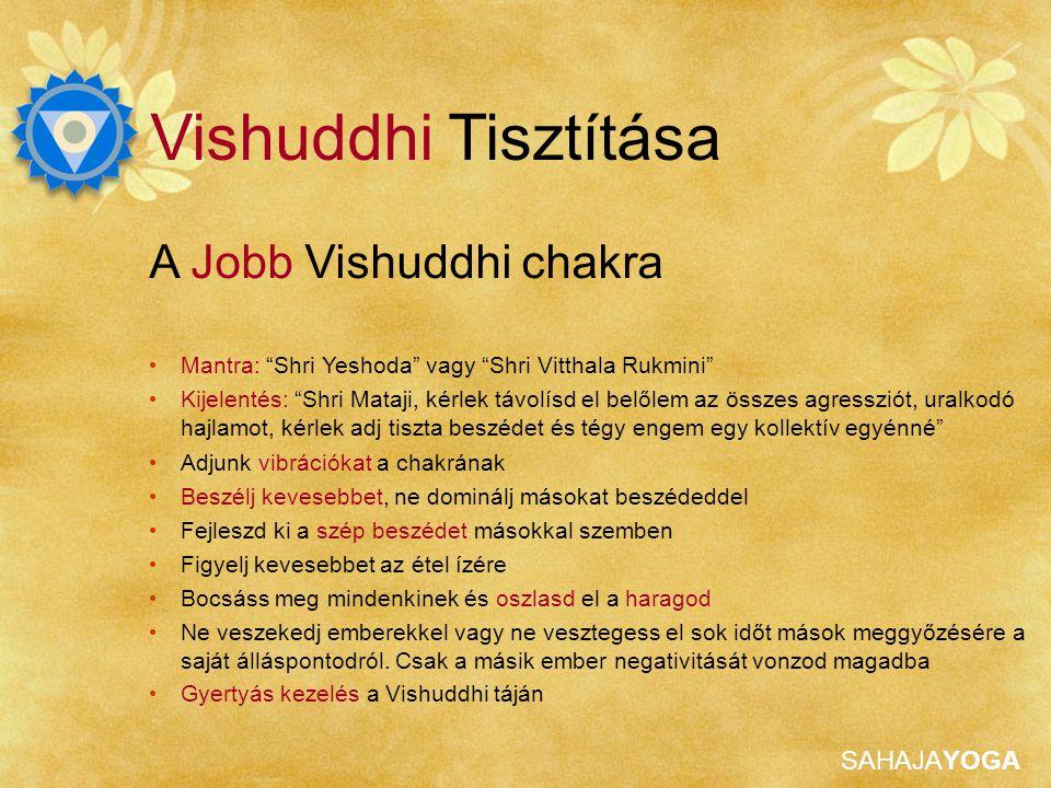 Vishuddhi Tisztítása A Jobb Vishuddhi chakra