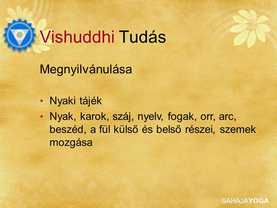 Vishuddhi Tudás Megnyilvánulása Nyaki tájék