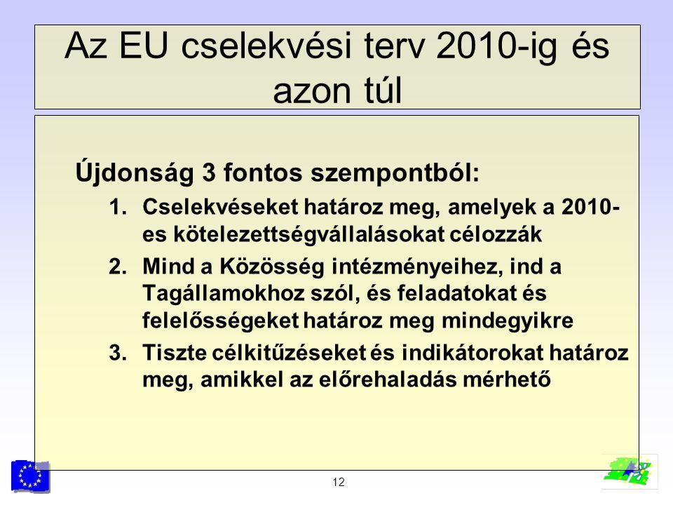 Az EU cselekvési terv 2010-ig és azon túl