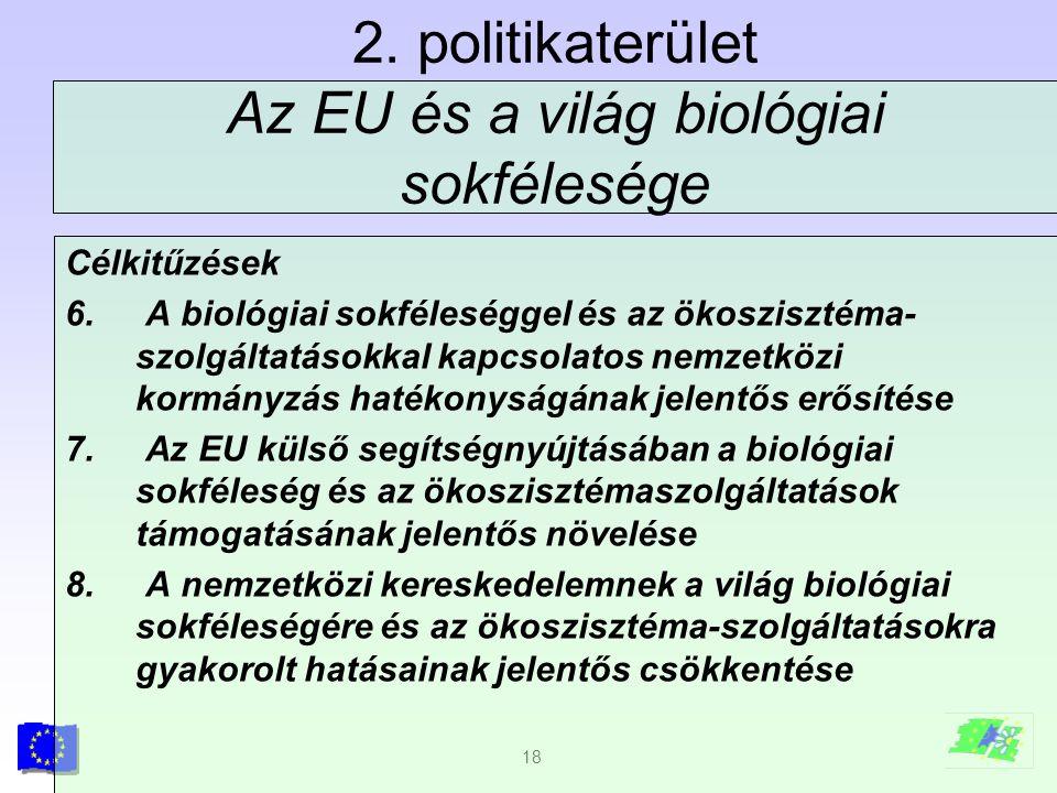 2. politikaterület Az EU és a világ biológiai sokfélesége