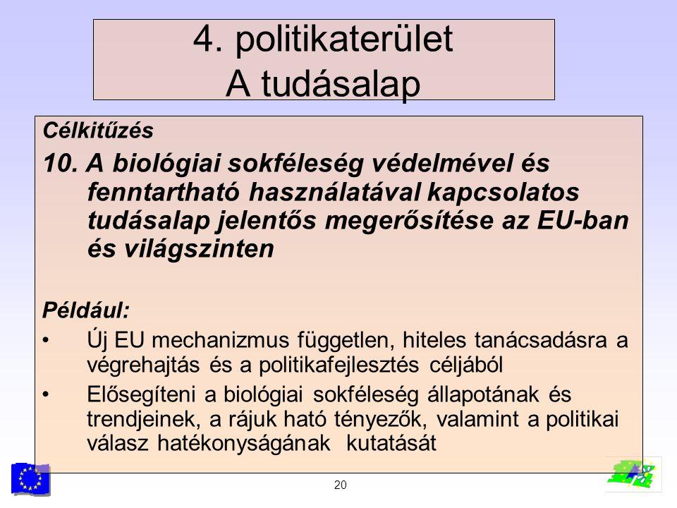 4. politikaterület A tudásalap