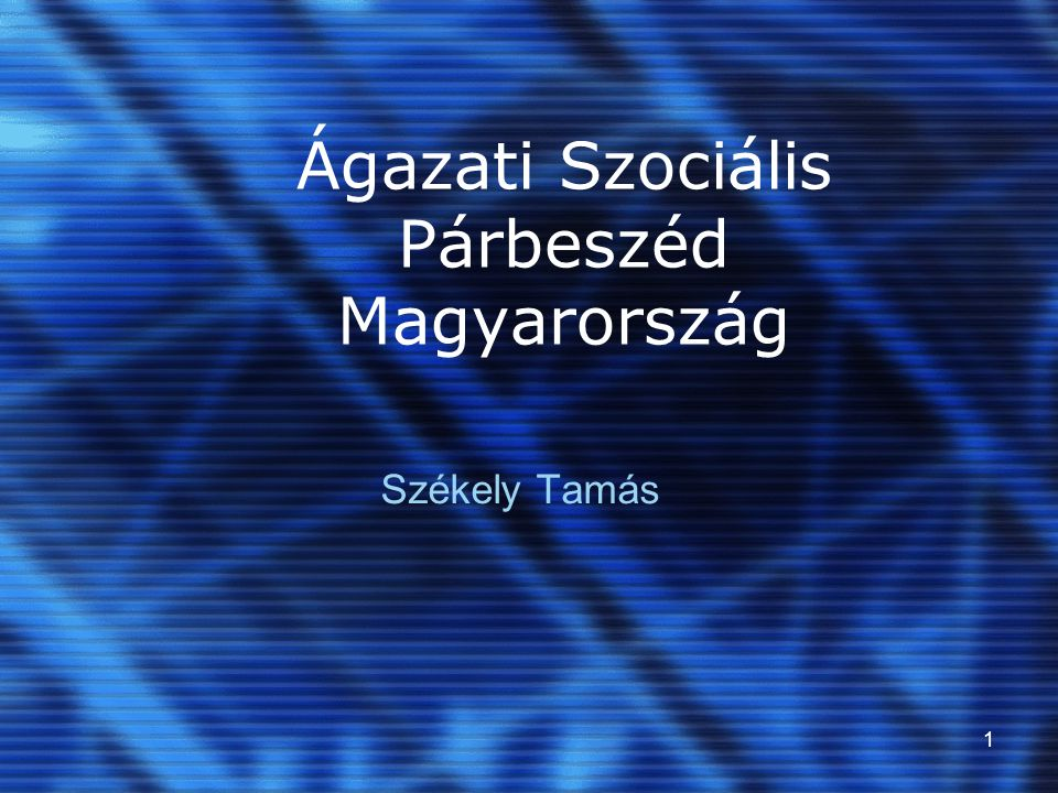 Ágazati Szociális Párbeszéd Magyarország
