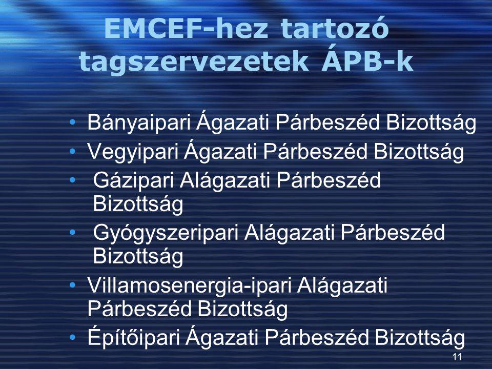 EMCEF-hez tartozó tagszervezetek ÁPB-k