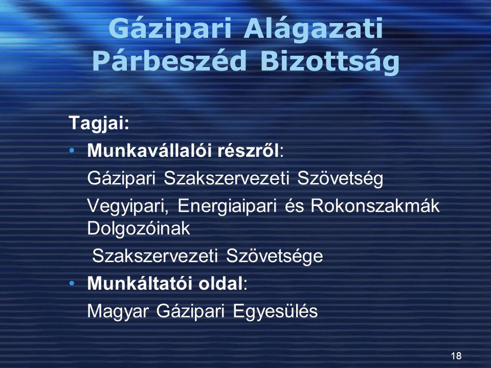 Gázipari Alágazati Párbeszéd Bizottság