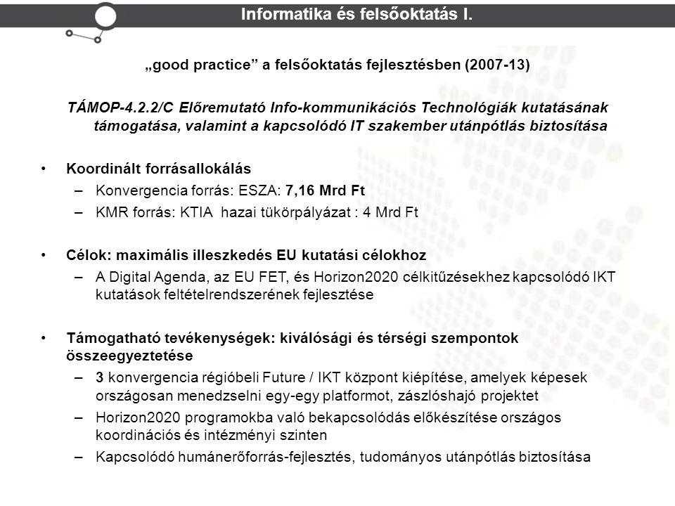 Cohesion Policy Informatika és felsőoktatás I.