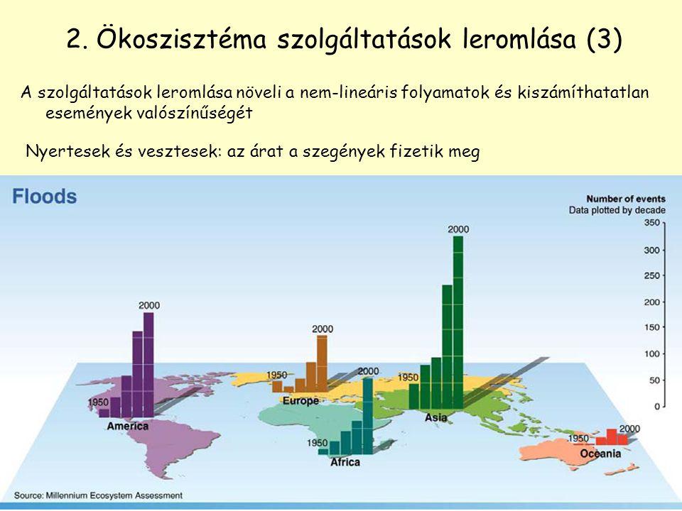 2. Ökoszisztéma szolgáltatások leromlása (3)