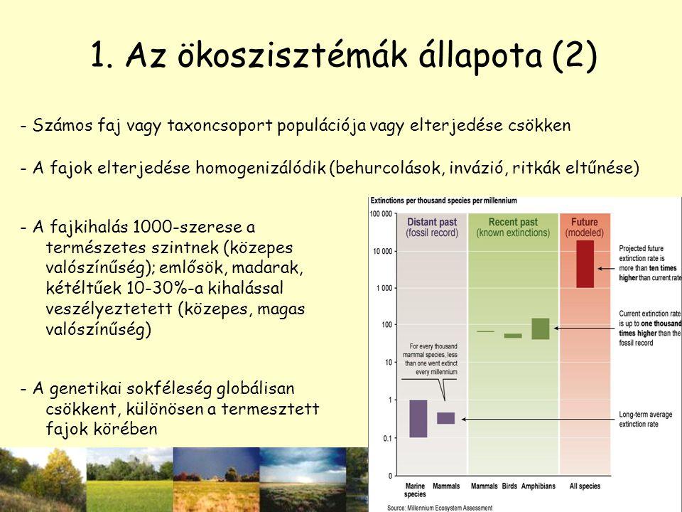 1. Az ökoszisztémák állapota (2)