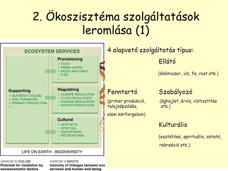 2. Ökoszisztéma szolgáltatások leromlása (1)