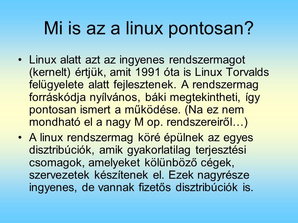 Mi is az a linux pontosan