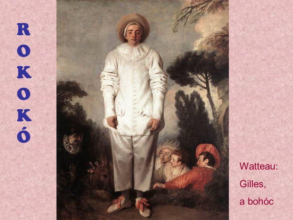 ROKOKÓ Watteau: Gilles, a bohóc