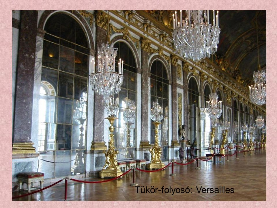 Tükör-folyosó: Versailles