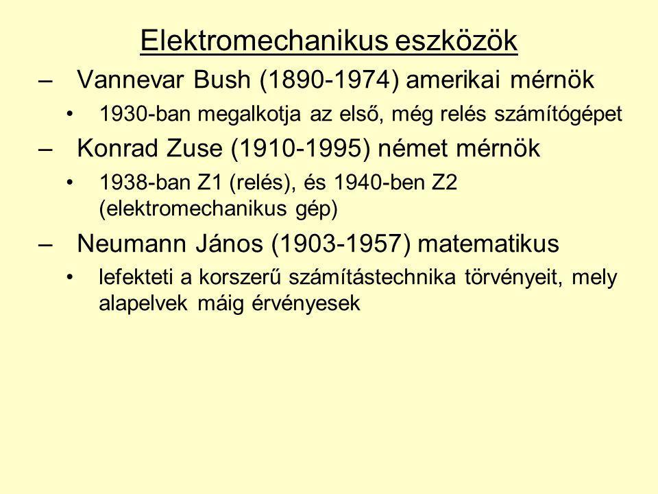 Elektromechanikus eszközök