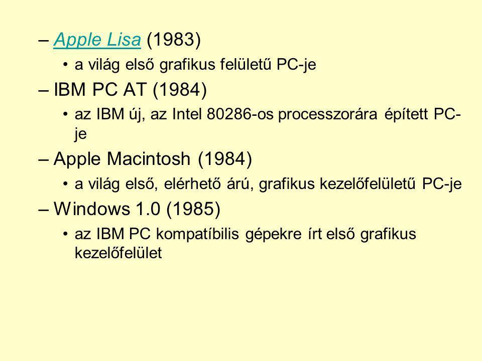 Apple Lisa (1983) IBM PC AT (1984) Apple Macintosh (1984)