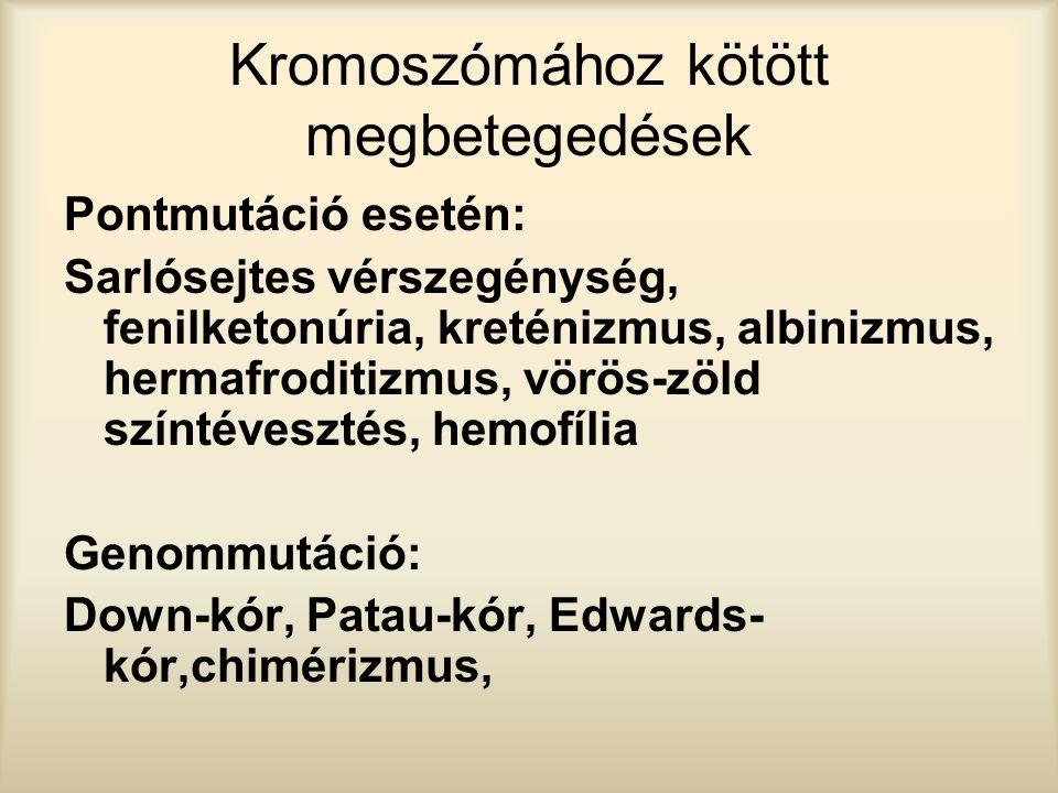 Kromoszómához kötött megbetegedések