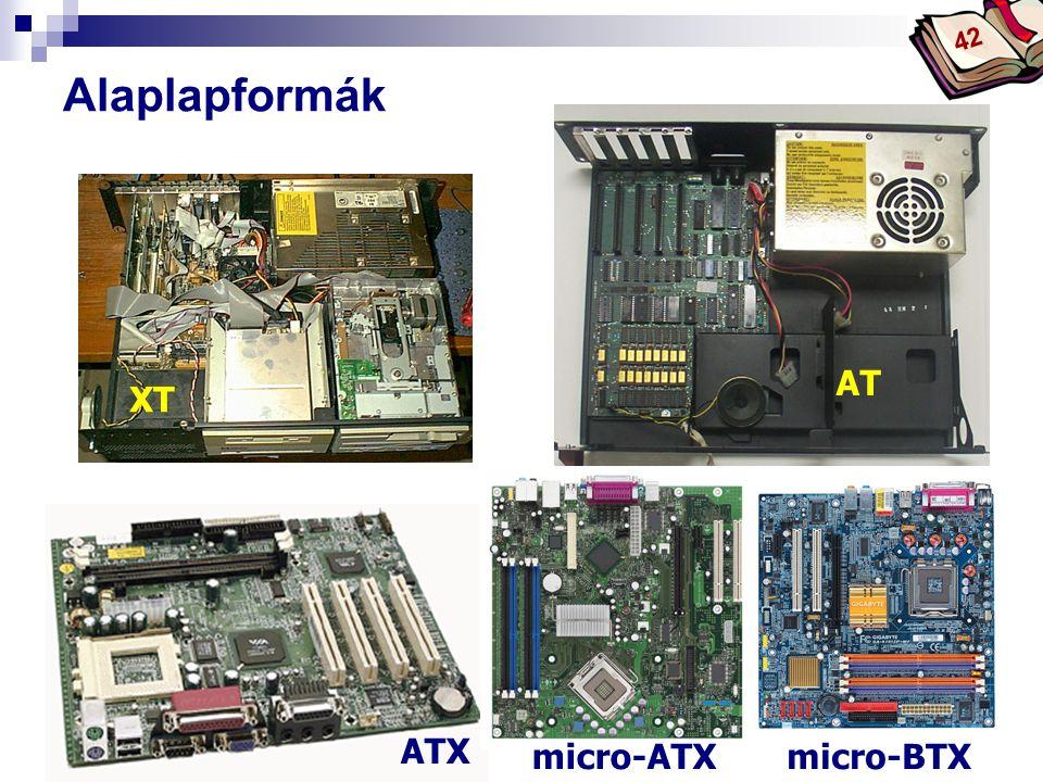 Alaplapformák AT XT ATX micro-ATX micro-BTX 42