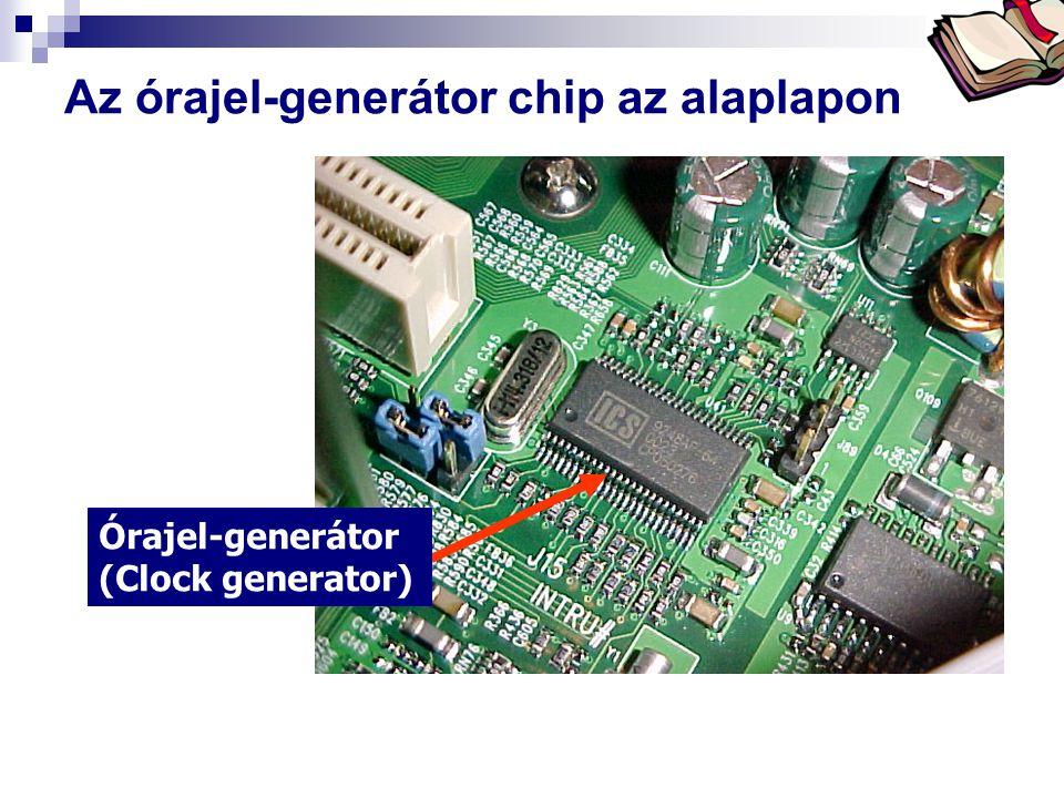 Az órajel-generátor chip az alaplapon
