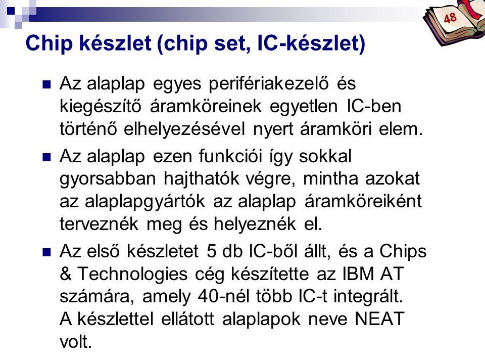 Chip készlet (chip set, IC-készlet)