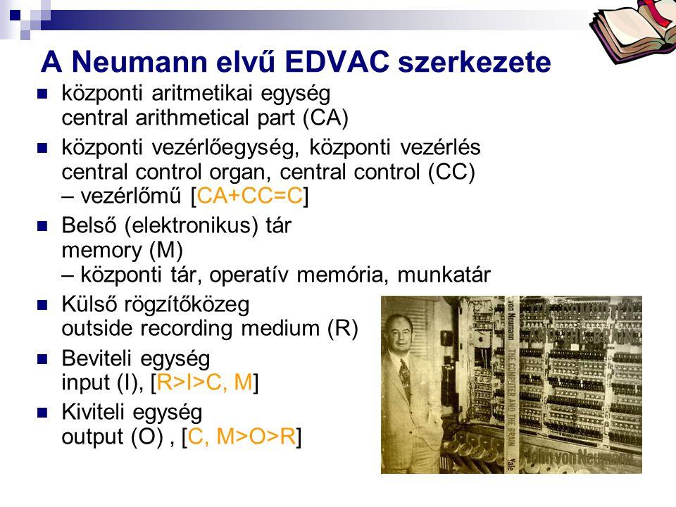 A Neumann elvű EDVAC szerkezete
